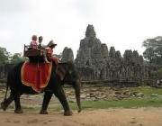 The Elephant Ride in Angkor Thom, Siem Reap